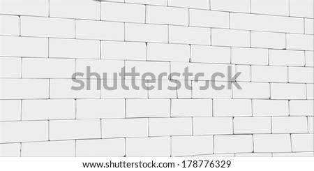 wall of big gray blocks - stock vector