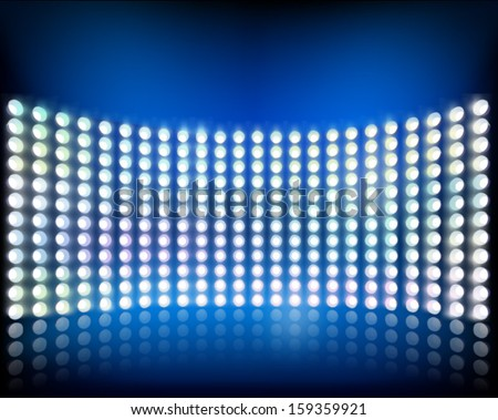 Wall of lights. Vector illustration. - stock vector