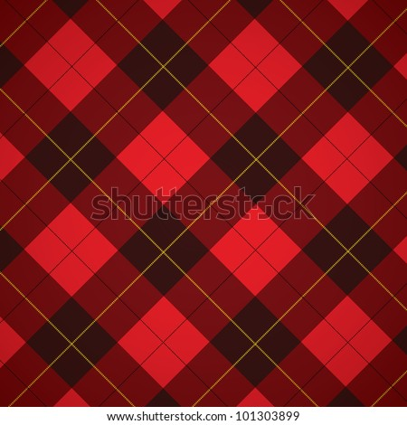 Wallace tartan Scottish plaid background - stock vector