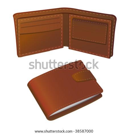 wallet - stock vector