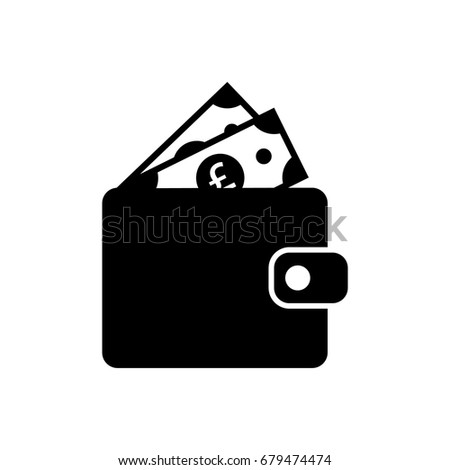 Wallet Full Pounds Icon Stock Vector 679474474 Shutterstock