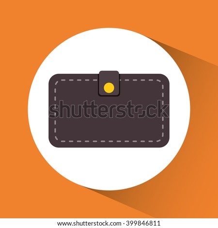 wallet icon design, vector illustration
