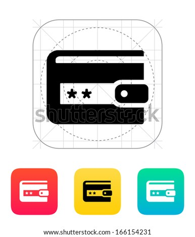 Wallet protection icon on white background. Vector illustration. - stock vector
