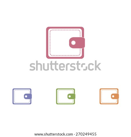 Wallets icon - stock vector