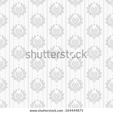 Wallpaper Background. Grey Color. Seamless Pattern. Style Retro  - stock vector