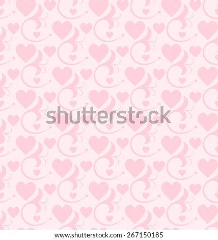 Wallpaper Background. Pattern for your design Wedding and Valentines day. Abstract background. Vector image. - stock vector