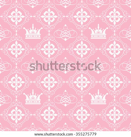 Wallpaper Background, Pink Backdrop, Gothic Style, Graphic Design, Vector Pattern Template, Seamless Pattern, Pattern Background, Design Pattern - stock vector
