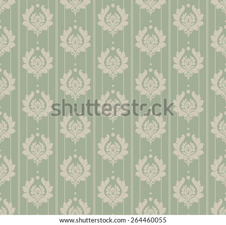 Wallpaper Background. Seamless Pattern. Style Retro for Your Design  - stock vector