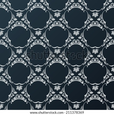 wallpaper background vintage black. Vector illustration - stock vector