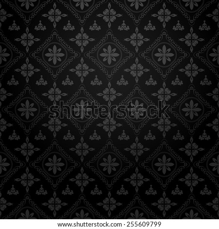 wallpaper black color, old style, template, image for your design of cards, invitations, website, paper packaging, book covers, wall. - stock vector