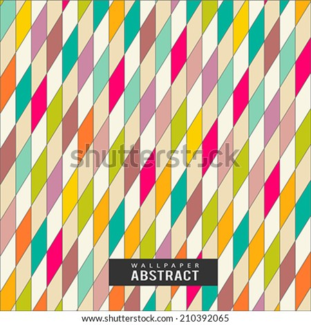 Wallpaper colorful triangles pattern geometric background, vector illustration - stock vector