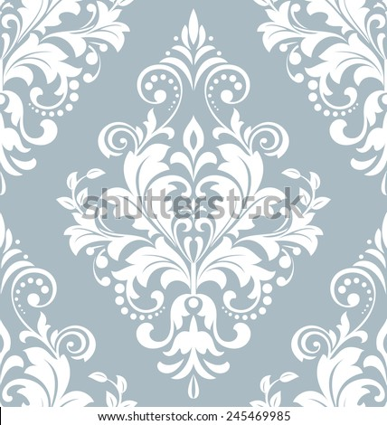 Wallpaper in the style of Baroque. A seamless vector background. Damask floral pattern. Floral ornament. - stock vector