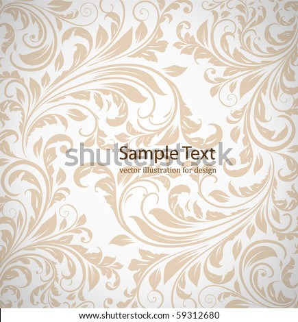 wallpaper pattern, white - stock vector
