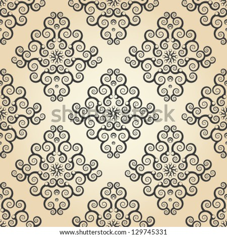 wallpaper seamless texture with lace ornaments.eps 10. - stock vector
