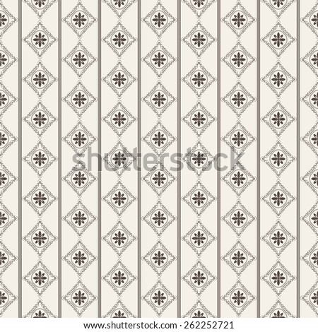 Wallpaper vintage style. Damask pattern for design. Background color images. Retro. Texture wallpapers for wall, backgrounds and page fill. Seamless pattern. Vector Illustration. - stock vector