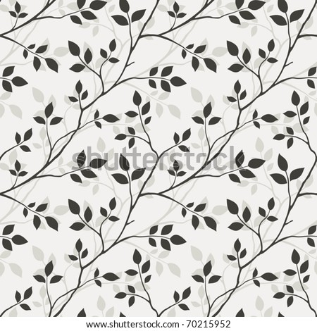 Wallpaper with leaves - stock vector