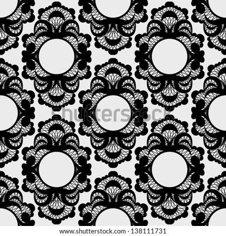 wallpaper with patterns in Baroque - stock vector