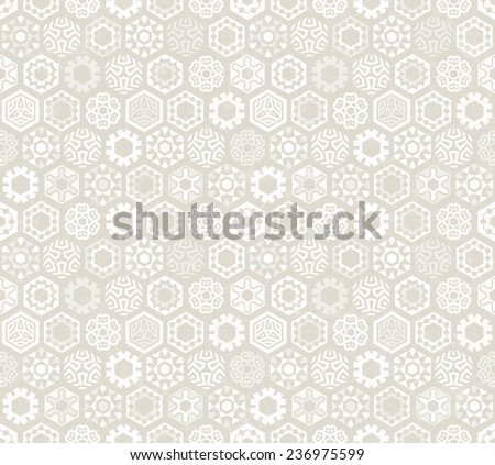 Wallpaper with stylized snowflakes.. Seamless pattern. Perfect for Christmas design. EPS 10 vector illustration. - stock vector