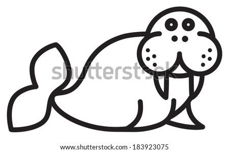 Walrus - stock vector