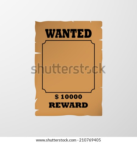 Wanted poster. Vector - stock vector