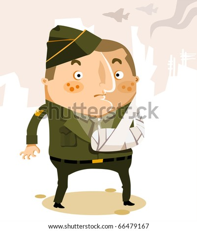 War Casualty of US Army. Vector Illustration - stock vector