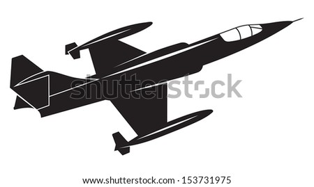 War plane - stock vector