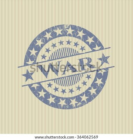 War rubber grunge stamp - stock vector