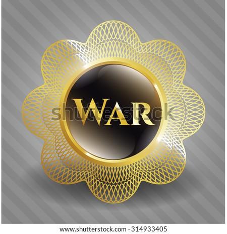 War shiny emblem - stock vector
