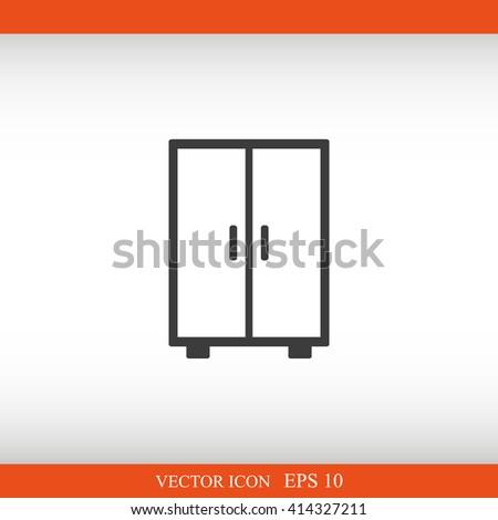 wardrobe icon  - stock vector