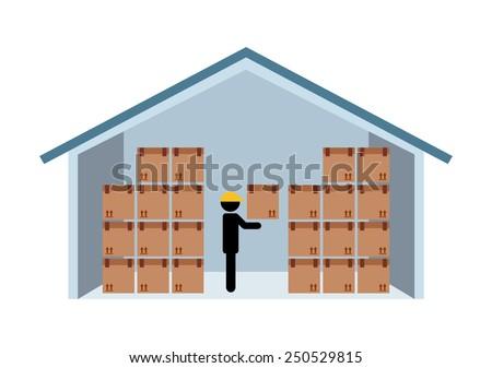 warehouse design, vector illustration eps10 graphic  - stock vector