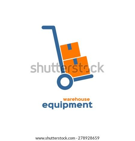 Warehouse equipment logo - stock vector