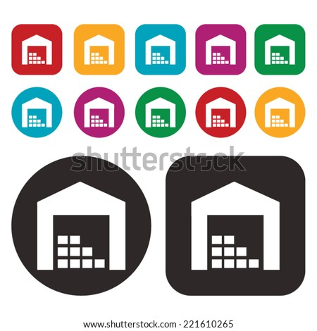 Warehouse icon . Stock icon - stock vector