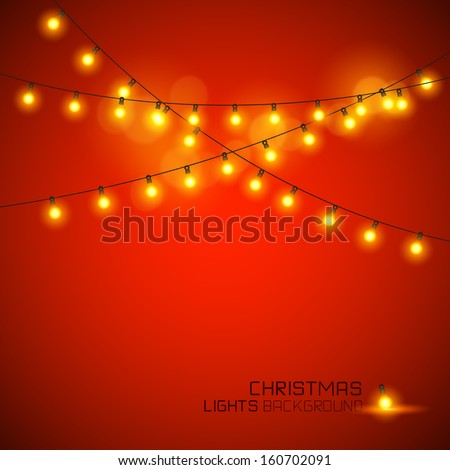 Warm Glowing Christmas Lights. Vector illustration - stock vector