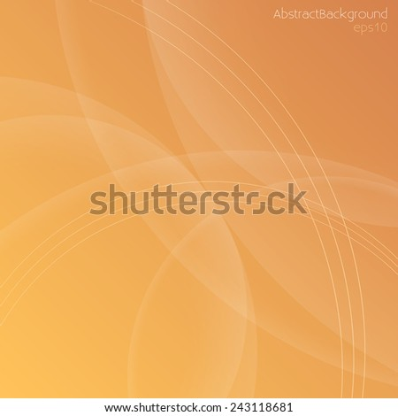 Warm Orange Tones Abstract Background - Vector EPS10  - stock vector