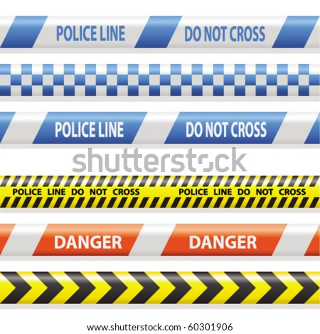 warning and police stripes