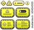 Warning banner set. Vector template. - stock vector