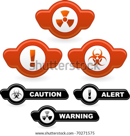 Warning element set. Vector illustration. - stock vector