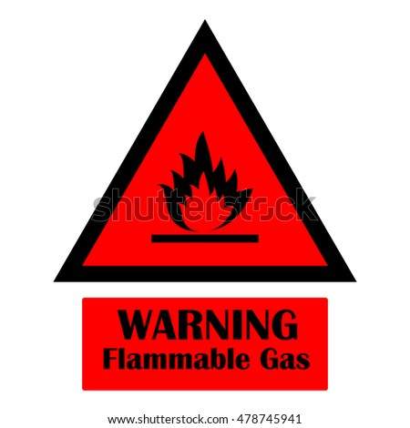 Warning Flammable Sign Stock Vector Royalty Free 478745941