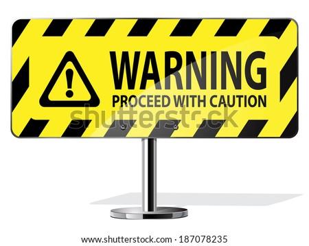 warning sign - stock vector