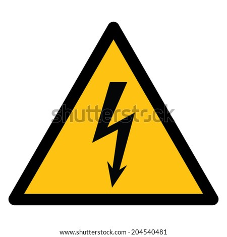 Warning sign, BEWARE HIGH VOLTAGE - stock vector