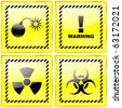 Warning sign collection. Vector illustration. - stock vector