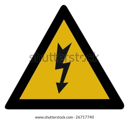 Warning sign - high voltage - stock vector