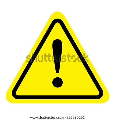 Warning sign icon, isolated on white background, vector illustration. - stock vector
