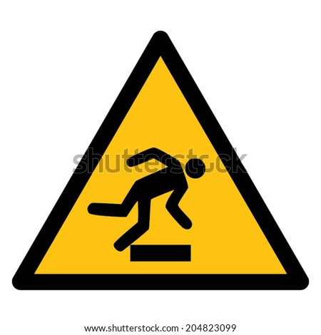Warning sign RISK OF STUMBLING
