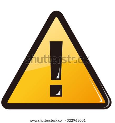 warning sign Vector - stock vector