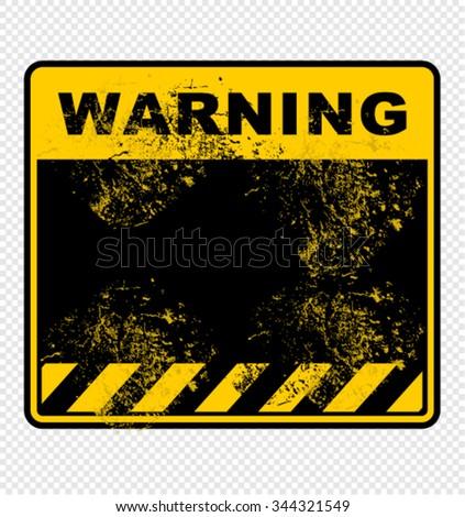 warning, sign, vector - stock vector