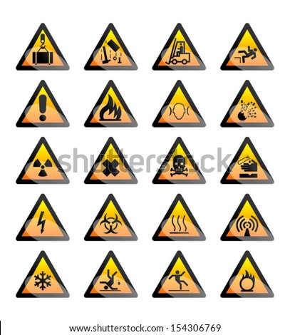 Warning signs illustration - stock vector