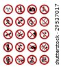 Warning signs isolated on white. Vector illustration. - stock vector