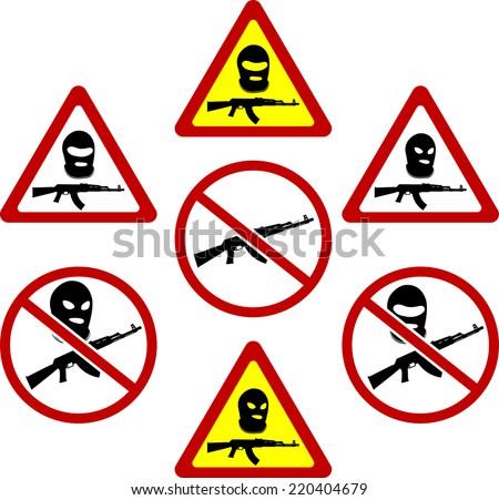 warning signs of terrorism. vector illustration - stock vector