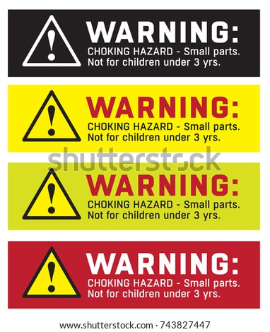Completely new Warning Sticker CHOKING HAZARD Small Parts Stock Vector 743827447  DI94
